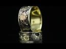 Обручальные кольца Алхимия Любви. Желтое, белое, красное золото, сапфир
