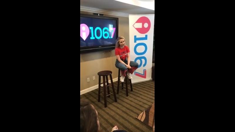 Интервью и выступление в студии радиостанции «i106.7» (08.08.17; Нэшвилл, США)