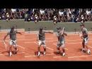 Теннис техника Удар слева слёта