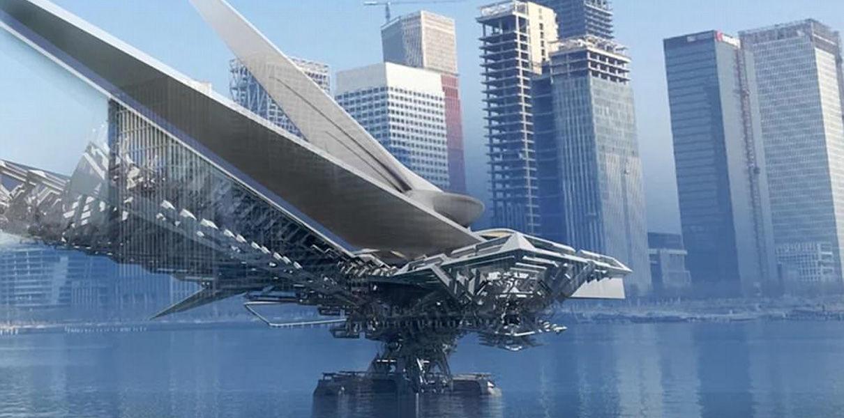 EJyippX2h6k В Китае хотят построить плавучий мост-трансформер на солнечной энергии