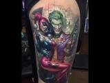 Джокер и Харли Квинн татуировка
