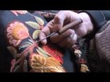 Kashmir Hand Embroider Shawl Making / Создание кашмирской ручной вышивки на шали / платке