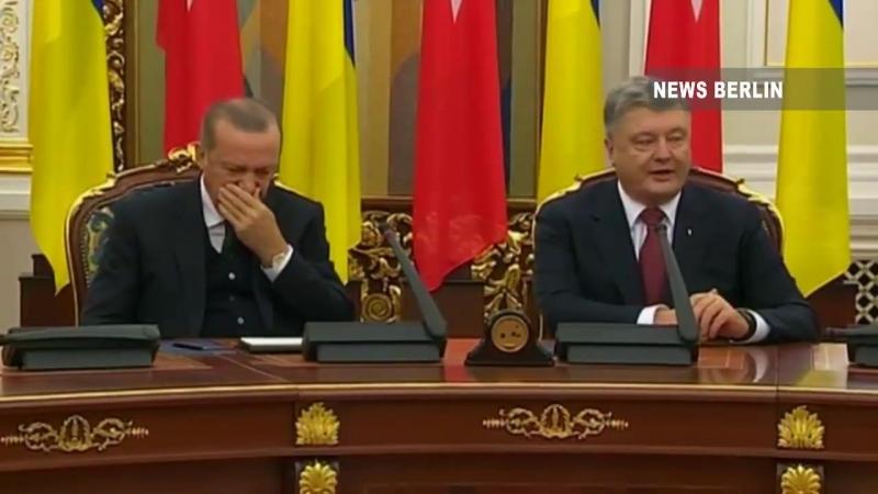 Zu Gast in der Ukraine - Erdogan schläft mitten in Pressekonferenz ein