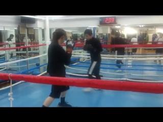 asian boxing girl stomach ko