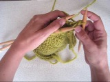 DROPS Knitting Tutorial How to bind odd with 3-needle