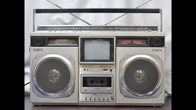 SHARP CT-6001 TV The Seacher (1980) Vintage Boombox Ghettoblaster Made in Japan ラテカセ ラジカセ