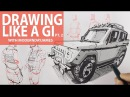 BECOMING A GI II: Drawing in curvilinear perspective