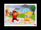 It's raining, it's sunny  Pitter patter! Splash! English Nursery Rhymes  Animated story card songs
