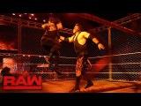 Kane Returns Roman Reigns vs. Braun Strowman - Steel Cage Match Raw, Oct. 16, 2017