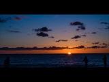 Удивительный закат на пляже