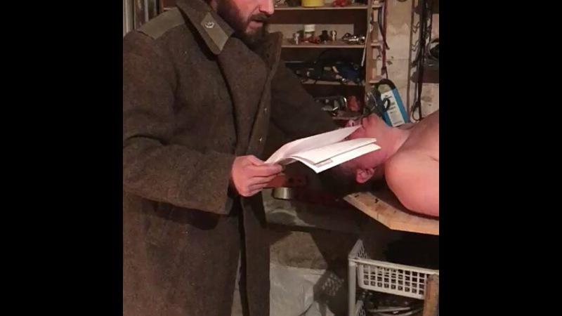 Николай Должанский на съёмочной площадке в качестве киноактёра в очередной картине
