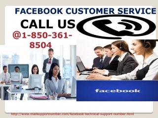 Get Instant Help at Facebook Customer Service : +1-850-361-8504 Helpline Number