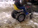 денис на тракторе самодельном