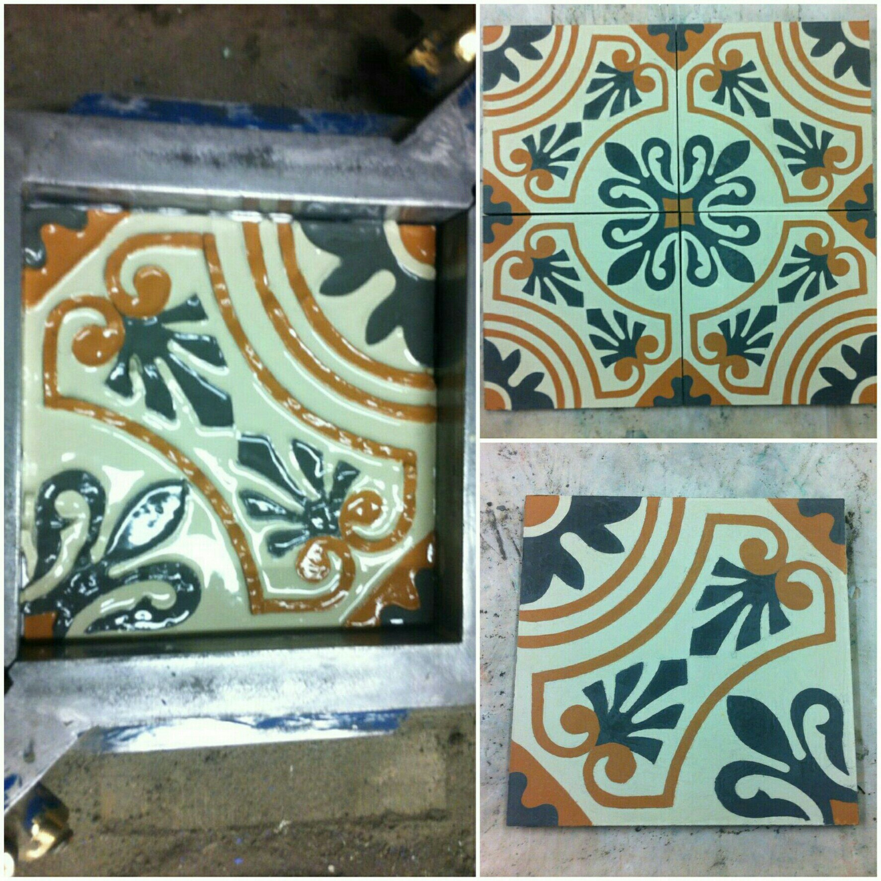 цементная плитка Luxemix - процесс изготовления