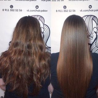 Кератиновое выпрямление волос псков цена