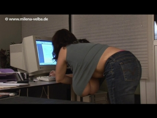 Milena Velba office ( fetish milf wet pussy big tits suck blowjob kink porn anal мамка сосет порно анал шлюха фетиш )
