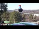 Новый зимний аттракцион АэроподушкаВатрушка катание на тюбингах с трамплина