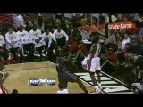 Kwame Brown Season High For Bobcats. Blocks LeBron James And Almost Dunks Over Him.