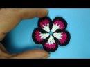 Пятилистник Вязаные цветы Crochet flower pattern 89