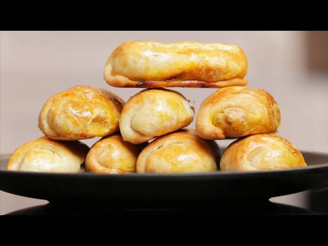 Рецепт Молдавские пирожки Вэрзэре с квашенной капустой