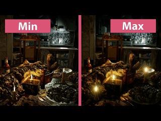 4K UHD   Resident Evil 7 – PC Min vs. Max Graphics Comparison