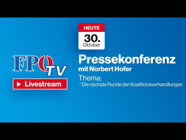 Pressekonferenz mit Norbert Hofer - Die nächste Runde der Koalitionsverhandlungen