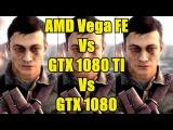 Battlefield 1 DX11 AMD Vega Frontier Edition Vs GTX 1080 TI Vs GTX 1080 4K Frame Rate Comparison