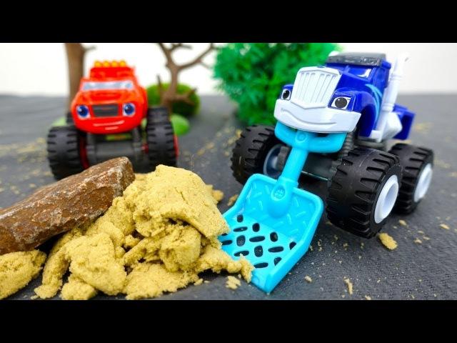🏁 Spielzeugautos Blaze und Crusher bauen eine Rennstrecke 🏁 Blaze und die Monster Maschinen
