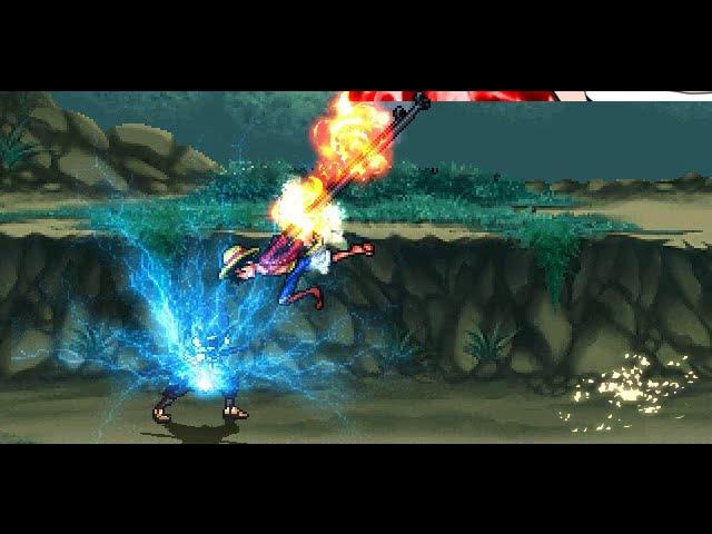 Monkey D Luffy VS Sasuke Uchiha in M.U.G.E.N