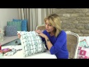 Canadian smocked box cushion by Debbie Shore