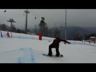 Почти! Backside 360 on snowboard Sochy 2017
