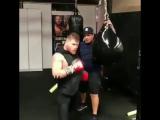Тренировка Сауля Альвареса, подготовка к бою с ГГГ.