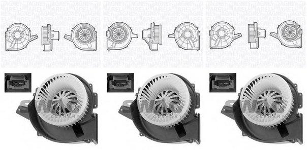 Электродвигатель, вентиляция салона для AUDI A2 (8Z0)
