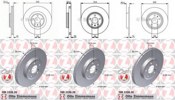 Тормозной диск для AUDI A5 кабрио (8F7)