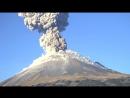Извержение вулкана Попокатепетль (Мексика, 10.11.2017)