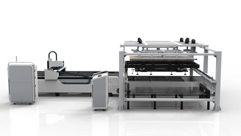 E-A. волоконный лазер со сменным столом и автопотачей