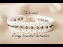 МК - Легкий браслет из бисера и бусин Easy beaded bracelet
