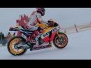 Марк Маркес штурм горнолыжной трассы на Honda RC213V