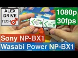 Sony NP-BX1  Wasabi Power NP-BX1 - 1080p 30fps