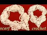 Como tejer a Crochet bufanda de flores y arabescos en relieve gancho f