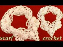 Como tejer a Crochet bufanda de flores y arabescos en relieve gancho fácil y rápido