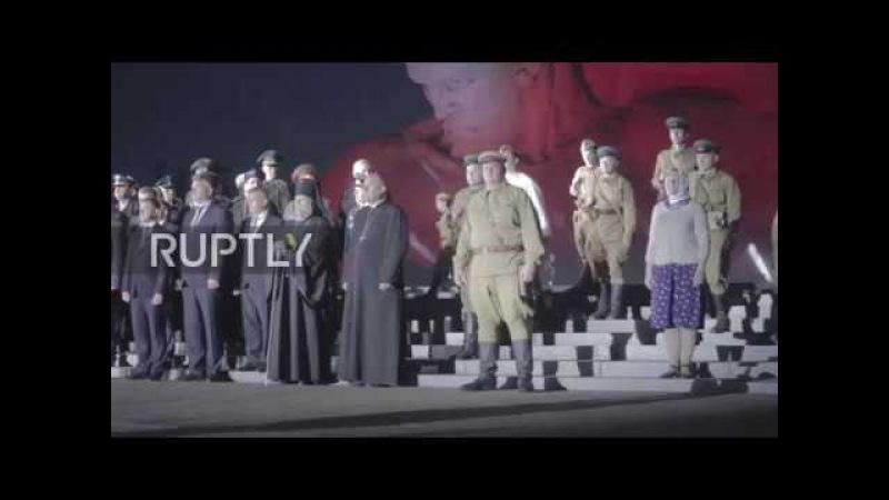 Беларусь: Второй Мировой Войны реакторов воссоздают битву Брестской крепости, чтобы отметить нацистское вторжение в СССР.
