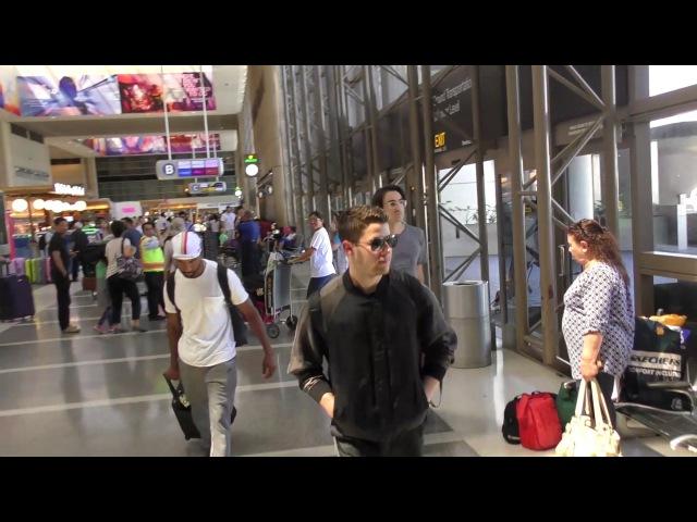 Nick Jonas departing at LAX Airport in Los Angeles