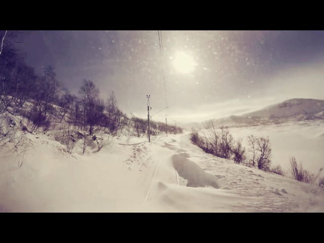 Train Driver's View: Stormy winter conditions on the mountainpass (Bergen Line, Norway)