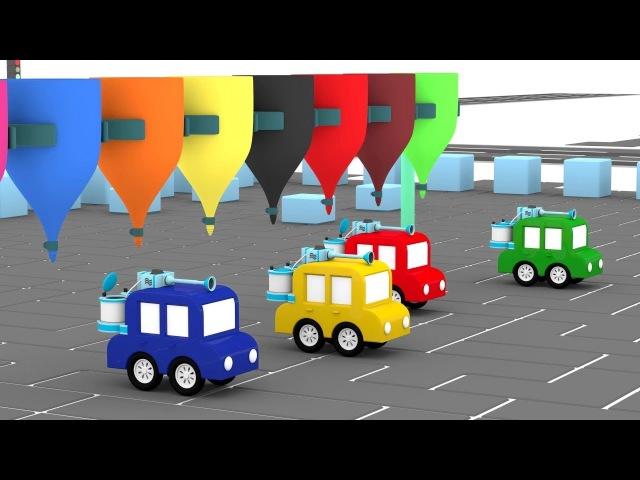 Dessin animé en français pour enfants de 4 voitures paintball