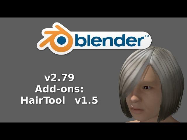 Blender 2.79 Add-ons:HairTool v1.5