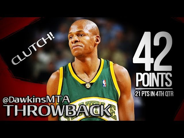 Ray Allen Full Highlights 2006.01.22 at Suns - 42 Pts, 8 Threes, UNREAL CLUTCH!