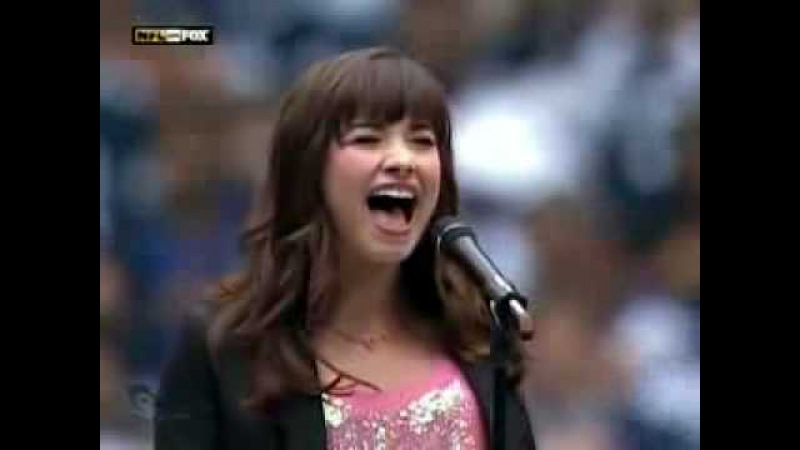Demi Lovato Singing the National Anthem live on Fox HQ