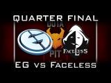 EG vs Faceless Quarter Final Dota Pit 2017 Highlights Dota 2