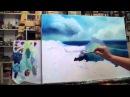 Алла Белопесоцкая видеоурок живопись маслом МОРЕ (как писать волну)